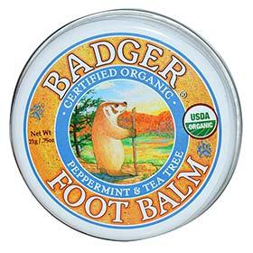 Badger Foot Balm 21g ผสานคุณค่าสารสกัดจากพืชธรรมชาติ ที่ช่วยเพิ่มความชุ่มชื้นและบำรุงผิวเท้าให้เนียนนุ่ม