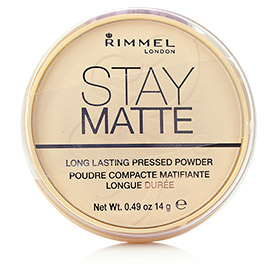 Rimmel Stay Matte Longlasting Pressed Powder #001 Transparent แป้งฝุ่นอัดแข็งเนื้อบางเบา ให้การปกปิดเรียบเนียนอย่างเป็นธรรมชาติ