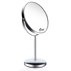 Oni X3 Both Sides Cosmetic Mirror กระจกแต่งหน้าแบบตั้งโต๊ะ มาพร้อมกระจก 2 ด้านให้เลือกใช้งาน ทั้งแบบธรรมดาและขยาย 3 เท่า