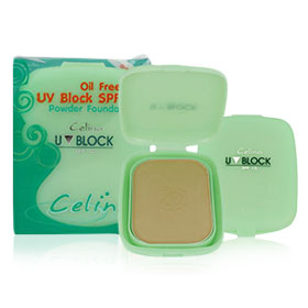 แพ็คคู่ Celina Oil Free UV Block SPF15 Powder Foundation #02 แป้งอัดแข็งผสมรองพื้น ยอดฮิตของพริตตี้สาวสวย