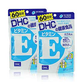 แพ็คคู่ DHC Vitamin E 60 วัน เติมความชุ่มชื่นให้ผิวลดริ้วรอยจากสิว รอยด่างดำ ฝ้าบนใบหน้า ช่วยให้ผิวกลับมาสดใส ชุ่มชื้นอีกครั้ง