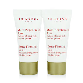 แพ็คคู่ Clarins Extra-Firming Day Wrinkle Lifting Cream All Skin Types (5ml x2)