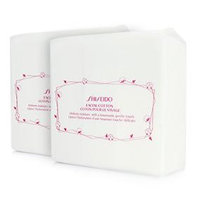 แพ็คคู่ Shiseido Facial Cotton (165 Sheets x2) สำลีแผ่นคุณภาพดีจาก Shiseido เนื้อแน่นไม่หลุดเป็นขุย ให้สัมผัสนุ่มละมุนอ่อนโยนไม่