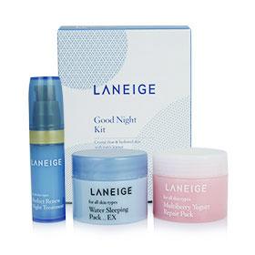 Laneige Good Night Kit (3 Items) เซ็ตดูแลผิวสวยยามค่ำคืน ช่วยฟื้นบำรุงให้ผิวเนียนนุ่มชุ่มชื่น ดูกระจ่างใสอย่างเป็นธรรมชาติ