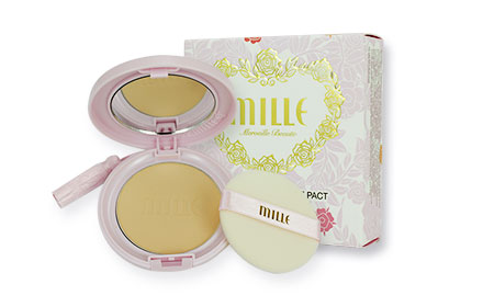 Mille Super Collagen Rose Pact SPF25 PA++ #2 Natural 11g