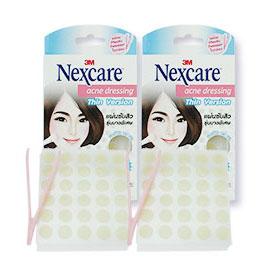 แพ็คคู่ 3M Nexcare Acne Dressing Thin Version size 0.8cm (30 pcs x2)