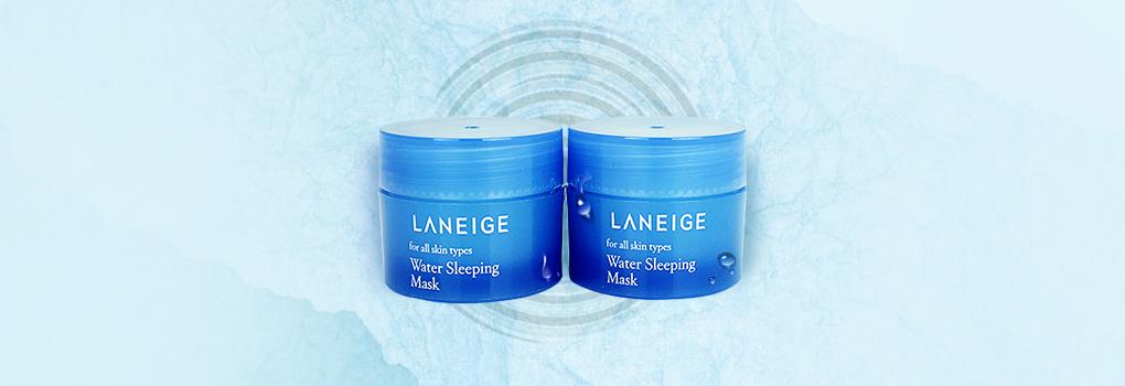 แพ็คคู่ Laneige Water Sleeping Mask (15ml x2) มาสก์สูตรใหม่ที่มอบความชุ่มชื้นล้ำลึก ซ่อมแซมผิวที่เสียหายมอบสัมผัสผ่อนคลายตลอดคืน