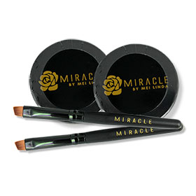 แพ็คคู่ Mei Linda Miracle My Brow 3D Gel #02 Black Brown
