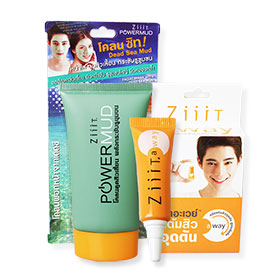 Set Ziiit Power Mud 40g & Away Zuper Strength Acne Cream 4g