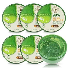 The Saem Jeju Fresh Aloe Soothing Gel 99% Set (300ml x6)