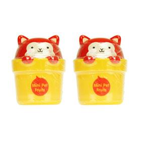 แพ็คคู่ THE FACE SHOP Mini Pet Hand Cream #02 Sweet Fruits 30ml(Orange)