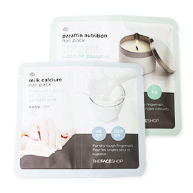 Set The Face Shop Milk Calcium Nail Pack + Parafin Nutrition Nail Pack