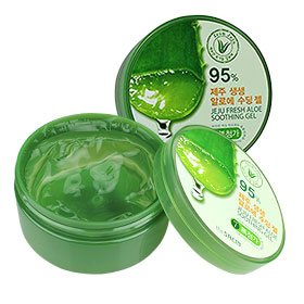แพ็คคู่ The Saem Jeju Fresh Aloe Soothing Gel 95% (300ml x2)