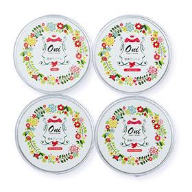 Oni Perfume Balm Set (J'ador,Bright Crystal,Be Delicious,Omnia Amethyste) 4x15g