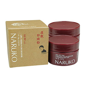 แพ็คคู่ NARUKO Raw Job Tears Supercritical Co2 Pore Minimizing & Brightening Night Gelly (15gx2)