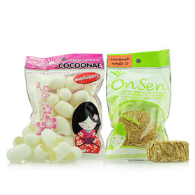 เซทคู่ Onsen สครับรังไหมโคคูนเนะ +ใยกล้วยขัดผิว