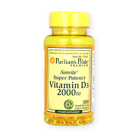 Puritan's Pride Sunvite Super-Potency Vitamin D3 2000IU 100 Liquid Softgels