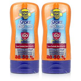 ซื้อ 1 แถม 1 Banana Boat Sport Coolzone SPF50PA++++ Sunscreen Lotion(120ml×2)