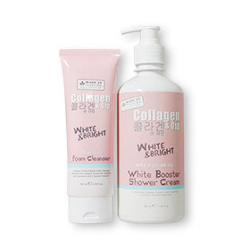 Set Beauty Buffet Made In Nature Collagen & Q10 White Booster Shower Cream 350ml & Foam Cleanser 100ml