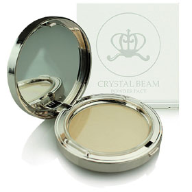 Bisous Bisous Crystal Beam Powder Pact #Pearl Beige
