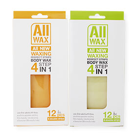 Set All Wax Waxing Perfect Body Wax Strips Orange & Green (12pcsx2)