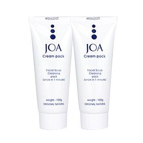 แพ็คคู่ JOA Cream Pack Facial Scrub Cleansing Pack(100g×2)