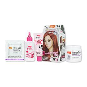Set Lolane Z Cool Color Milk #Y11 Strawberry Yogurt Drink (Box) & Intense Care Keratin Repair Mask (Coloring) 200g