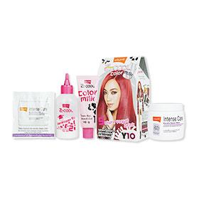 Set Lolane Z Cool Color Milk #Y10 Sakura Yogurt Drink (Box) & Intense Care Keratin Repair Mask (Coloring) 200g