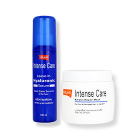 Set Lolane Intense Care Leave-in Hyaluronic Serum 100ml & Intense Care Keratin Repair Mask (For Dry & Damaged Hair) 200g