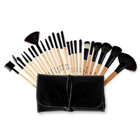 Mei Linda MD 4119 Black Bag Brush Set 24 pcs