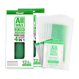แพ็คคู่ All Wax Waxing Perfect Strips Body Wax Aloe Vera (12pcsx2)