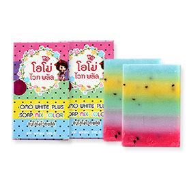 แพ็คคู่ OMO White Plus Soap Mix Color (100g x2)