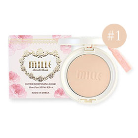Mille Super Whitening Gold Rose Pact SPF48 PA++ #1 Light