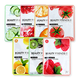 Beauty Friends II Fruit Mask Set 7 sheets