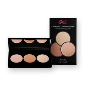 Sleek Corrector & Concealer Palette With SPF15 Setting Powder 4.2g #02-356