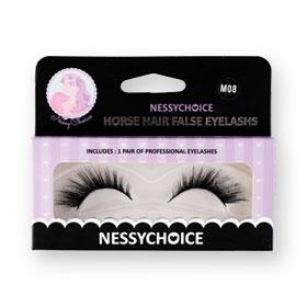 NessyChoice Horse Hair False EyeLashs 1pairs #M08