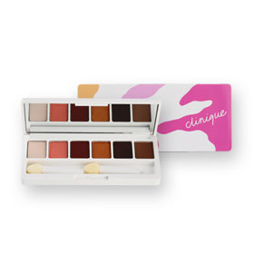 Clinique  Limited Edition All About Shadow Palette (AJ bronze satin, 03 morning java, 07 at dusk honey, 02 black honey, 1W peach
