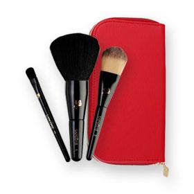 Lancome Red Bag Brush Set 3 Items