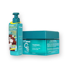 Biowoman Color Lock Treament Spirulina Amino Acids 250ml & Vitamin Spirulina Amino Acids 150ml For Hair Color Set 2 Items
