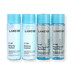 Laneige Power Essential Skin Refiner & Balancing Emulsion For Light Set 4 Items (25mlx4pcs)