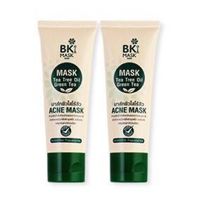 ซื้อ 1 แถม 1 BK Mask Acne Mask Tea Tree Oil Green Tea (30gx2pcs)
