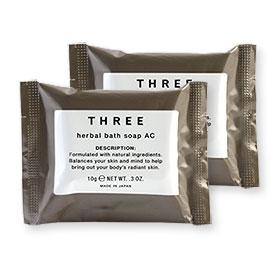 แพ็คคู่ THREE Herbal Bath Soap Ac (10gx2pcs)