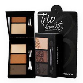 Mei Linda Trio Brow Kit #No.2 Dark Brown 3g