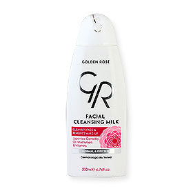 Golden Rose Facial Cleansing Milk Cleanses Face & Removes Make-Up Normal & Dry Skin 200ml
