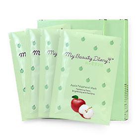 แพ็คคู่ My Beauty Diary Apple Polyphenol Mask (2pcs×2)