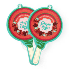 แพ็คคู่ Chupa Chups Car Air Freshener (1sheet x 2pack) #Watermelon Flavour