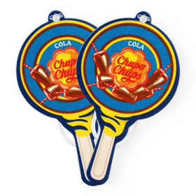 แพ็คคู่ Chupa Chups Car Air Freshener (1sheet x 2pack) #Cola