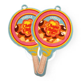 แพ็คคู่ Chupa Chups Car Air Freshener (1sheet x 2pack) #Vanilla