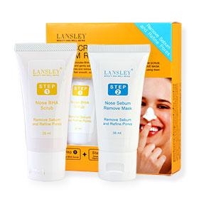 Beauty Buffet Lansley BHA Scrub & Sebum Remove Mask Set (35mlx2 Items)