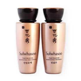 แพ็คคู่ Sulwhasoo Timetreasure Renovating Emulsion EX & Water EX (20mlx2pcs)